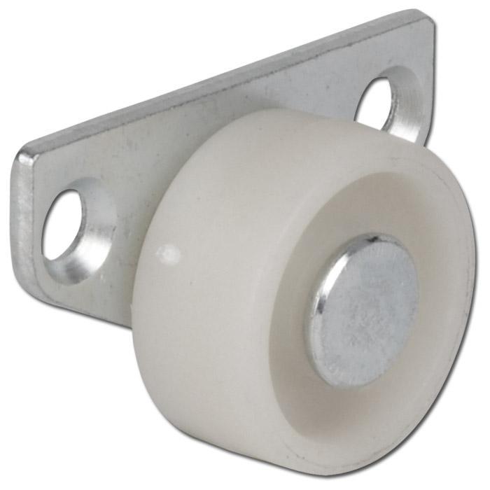Roulettes Pour Tiroir Plastique ø 30 Mm Charge 35kg Moyeu Lisse Chape Latérale