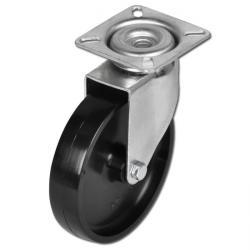 Lenkrolle - bis 60kg - Felge PA - Gleitlager - Lauffläche PA - Platte - ohne Sto