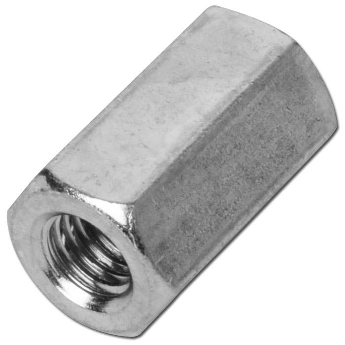 Connection Sleeve For Threaded Rods - Galvanized Steel