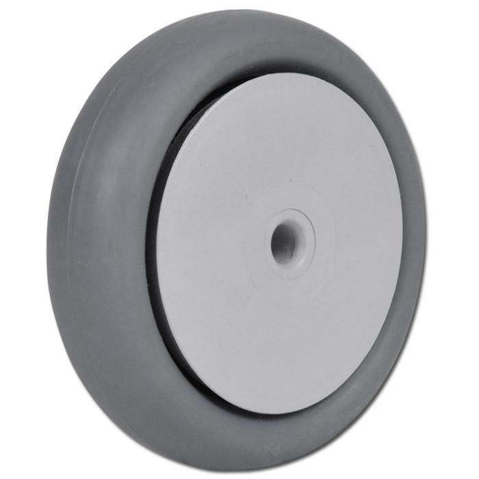 Thermoplastrad für Apparaterollen - mit Kugellager - Rad-Ø 50 bis 100 mm - Tragkraft 40 bis 65 kg