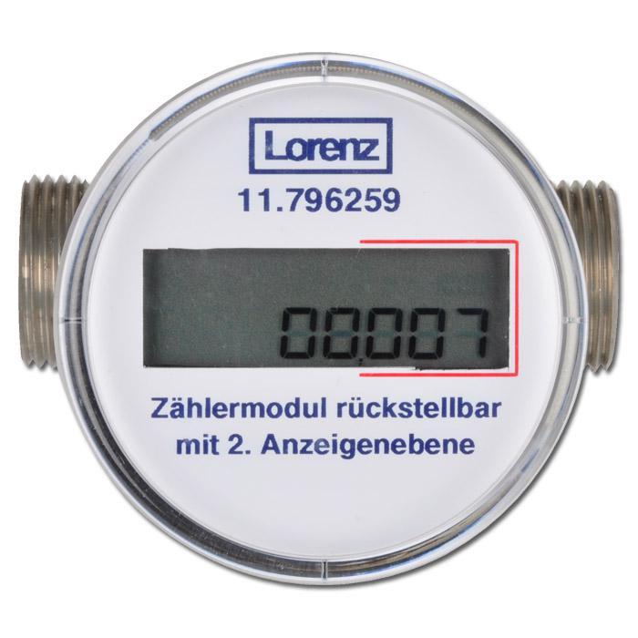 Fantastisk Vattenmätare - 2 visare - Återställningsbar - 1,5 till 2,5 m³/h BO-17