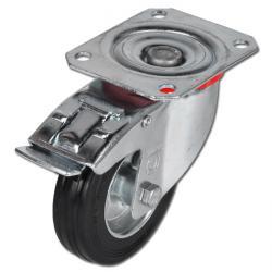 Transportgeräterolle - Vollgummirad - Rad-Ø 80 bis 280 mm - Bauhöhe 100 bis 320 mm - Tragkraft 50 bis 385 kg