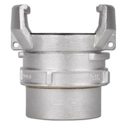 Guillemin-coupling with inner thread and locking - stainless steel