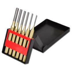 Splintentreibersatz 6-teilig in ausklappbarer Kunststoff-Kassette