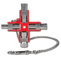Cabinet Key - Multifkts.Schlüssel 9 en 1 - Cross taille 97x92mm