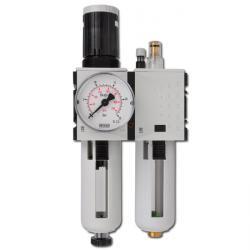 Wartungseinheit Futura - Filterregler 5µm + Tropfenöler - 16bar - bis 3500l/min