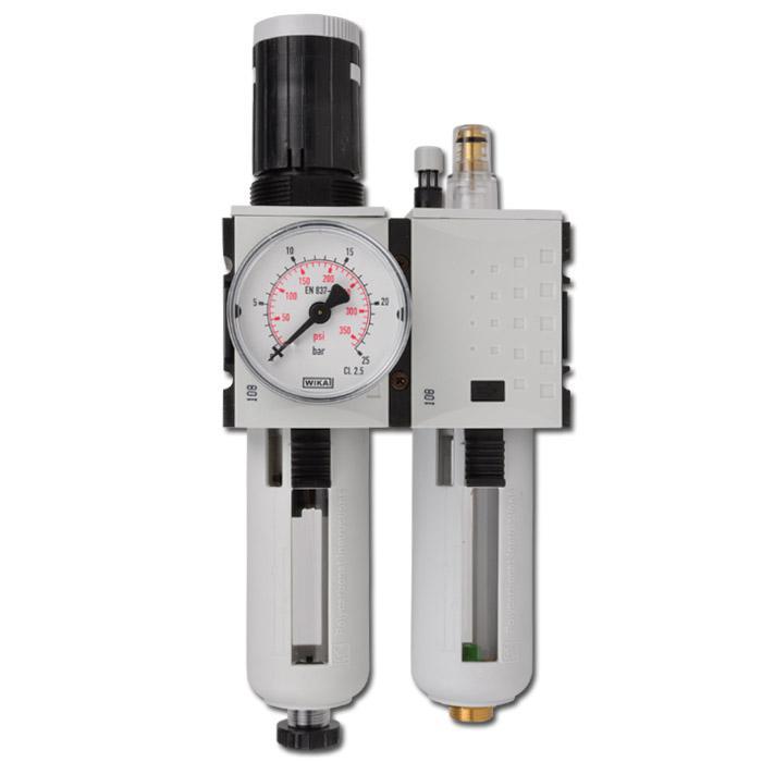 Unité de maintenance Futura - 5 pm filtre régulateur lubrificateur gouttes + - 1