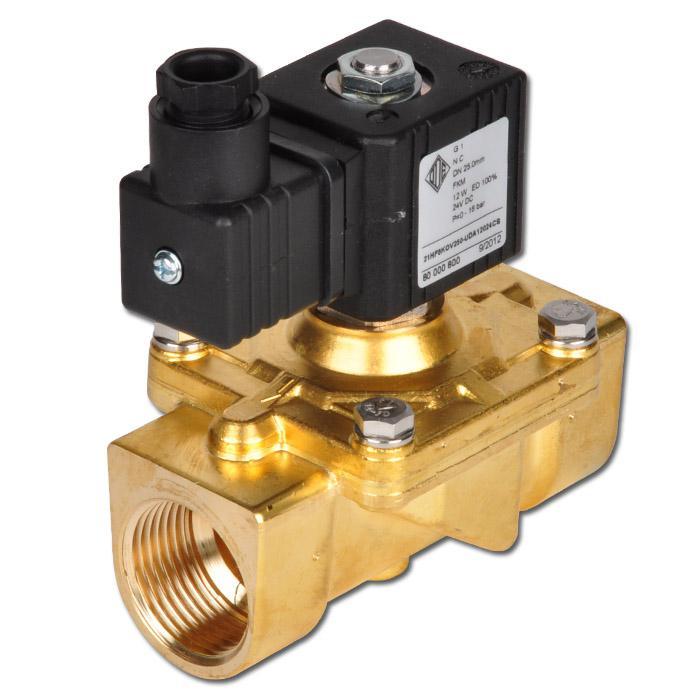 Solenoid Valve - 2/2 way - gasoline diesel oil - 0 to 16 bar
