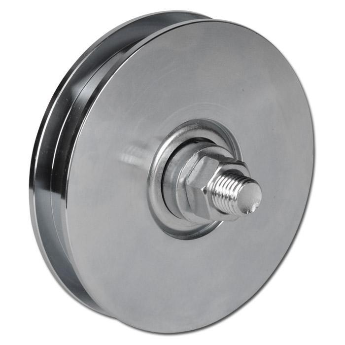 Laufrolle - Stahl verzinkt - kantige Nut - Kugellager - nachschmierbar - Rad-Ø 157 bis 247 mm - Tragkraft 710 bis 800 kg