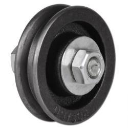 Türrolle - Grauguss - kantige Nut - Rollenlager - Rad-Ø 60 bis 160 mm - Tragkraft 30 bis 175 kg