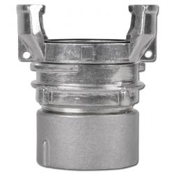 Guillemin coupling with inner thread with locking mechanism - aluminium