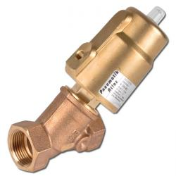 Corner Valve - Red Brass - 2/2-Way - Pilot Controlled