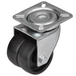 Lenkrolle - bis 100kg - Felge PA - Gleitlager - Lauffläche PA - Platte - ohne St
