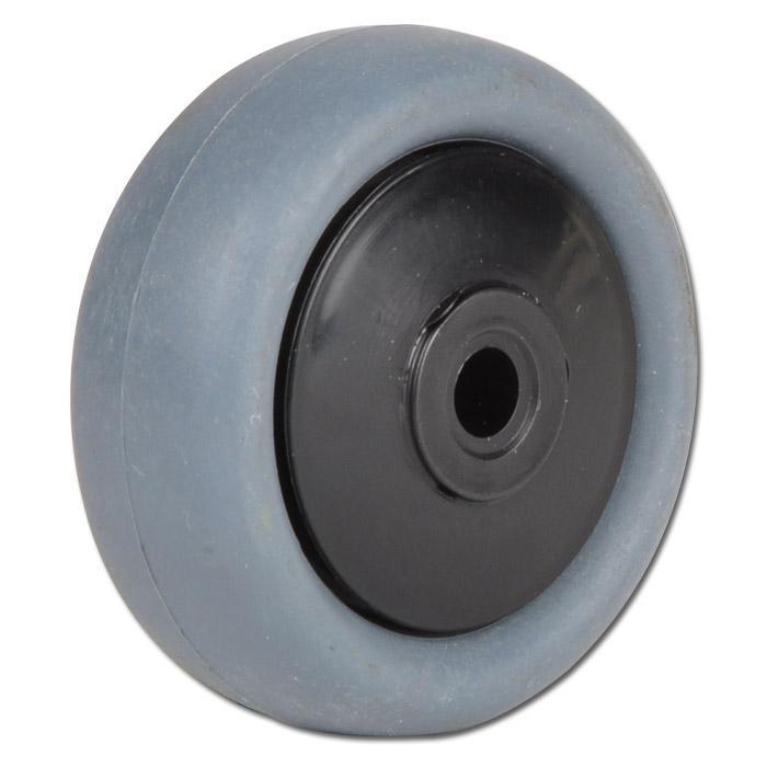 Thermoplastrad für Apparaterollen - mit Kugellager - Rad-Ø 50 bis 100 mm - Tragkraft 40 bis 65 kg - elektr. leitfähig