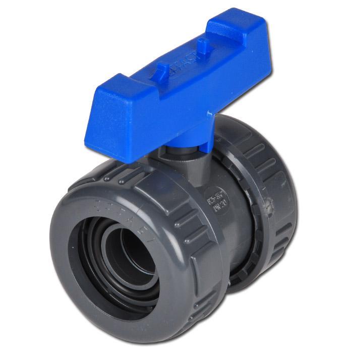 Kugelhahn mit IG PVC-U Wasserausf. - PN 16/10