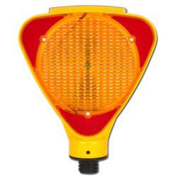 Feu de chantier solaire -  boîtier jaune