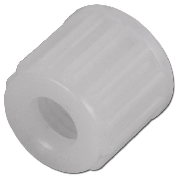 Rändelmutter - PVDF - Außen-Ø 6 bis 14mm - bis 10 bar