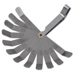 12-Blatt-Präzisions-Fühlerlehre - gebogen 0,203-0,660 mm