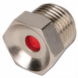 Indicatore pressione con AG - 1 fino 10bar - rosso - ottone nichelato
