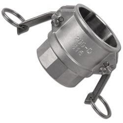 """Camlok Typ D - Rostfritt stål - 1"""" till 6"""" IG - Med säkerhetslås"""