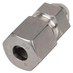 Svetskoppling - rak - rostfritt stål - kraftig byggserie