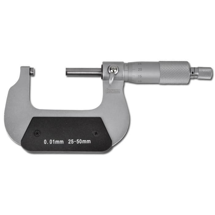 Mikrometer - mattförkromad - mätområde 0-200 mm