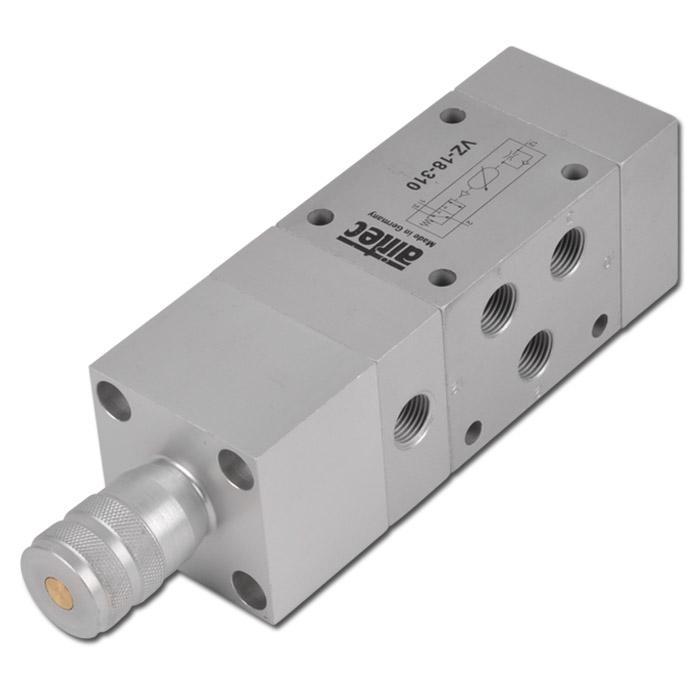 Tidventil - 3/2-vägs - precisionsutförande - 3-10 bar