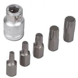 Schraubendreher-Bitsatz XZN - 6-teilig - Chrom-Vanadium-Stahl