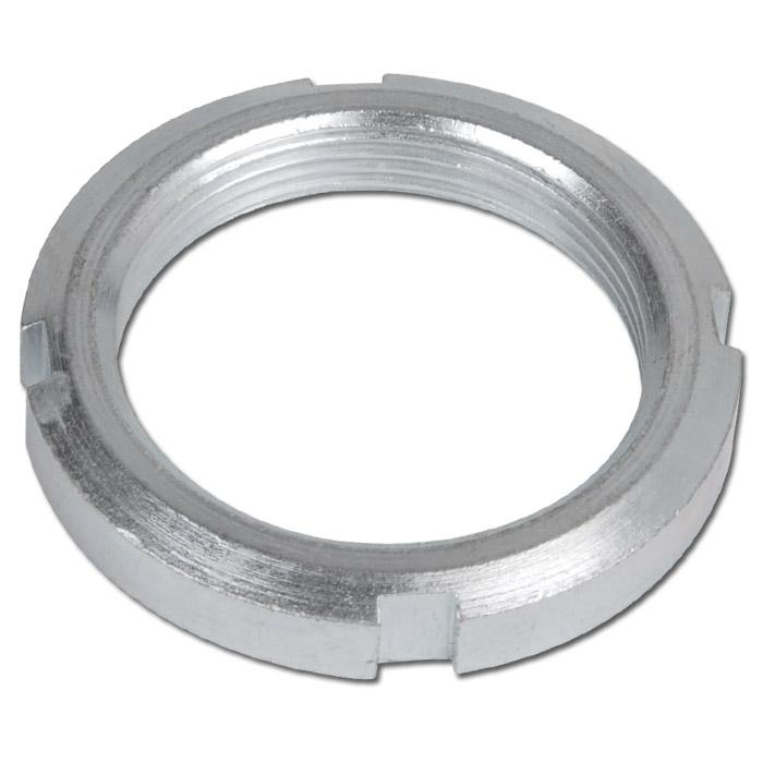 Ringmutter med spår - för rundcylinder - förzinkat stål