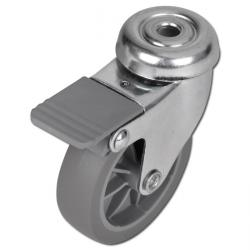 Apparate Lenkrolle - Stahlblech verzinkt - Rad-Ø 50 bis 100 mm - Bauhöhe 70 bis 124 mm - Tragkraft 40 bis 60 kg