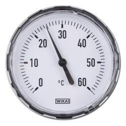 Bimetallthermometer - waagerecht - Kunststoffgehäuse und CU-Schutzrohr - Kl. 2,0