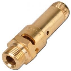 Sicherheitsventil - Druckluft - Messing - 0,2 bis 30 bar