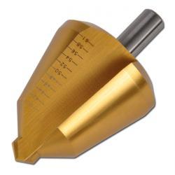 """Blechschälbohrer """"HSS"""" - Bohrbereich 3-61 mm - TiN-beschichtet - gerade genutet"""