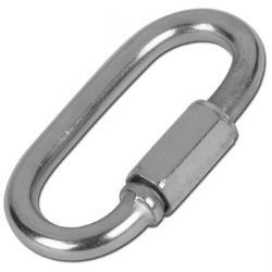 Snabblänk - skruvkoppling för kedjor - rostfritt stål