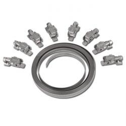 """Kit pour collier à filet hélicoïdal """"EB 9""""- acier inoxydable - rouleau de 3m - largeur 9mm - avec 6 têtes"""