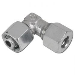 90°-Anschlussverschraubung - Einstellbar - Stahl verzinkt
