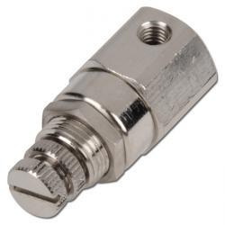 Micro-régulateur de pression - M5 - 75 l/min - 8 bar - laiton nickelé- air et ea