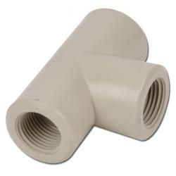 T-stycke med invändig gänga - plast - PN 10