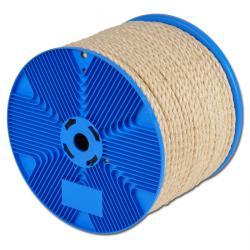 Sisalrep - 3-slag - greppvänligt - hård fiber - metervara