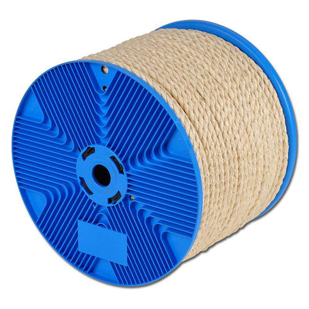 Sisal rope - 3 strand - solid handle behavior - tungsten fiber