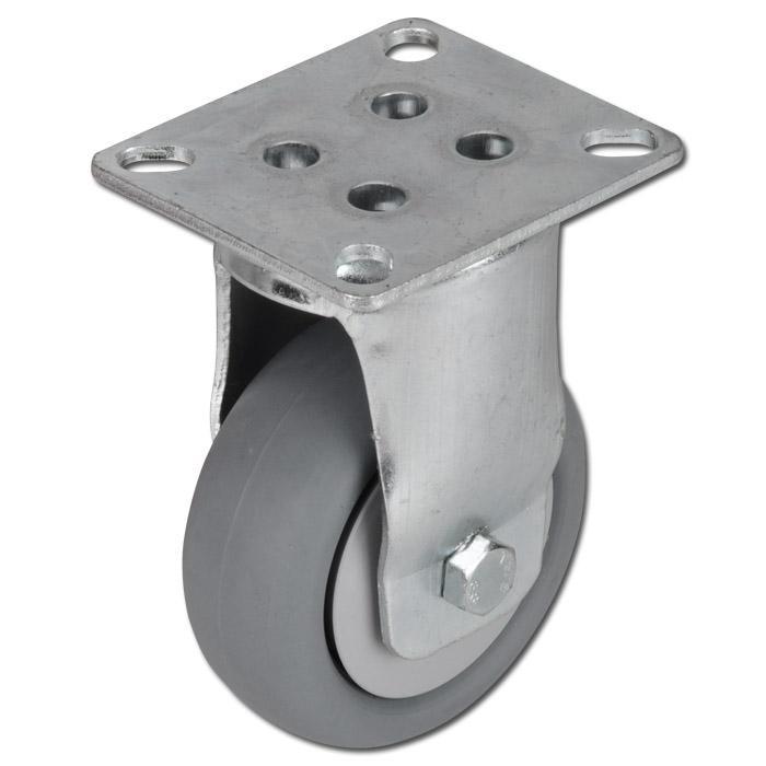 Apparate-Bockrolle - Thermoplastrad - Rad-Ø 100 mm - Bauhöhe 138 mm - Tragkraft 90 kg