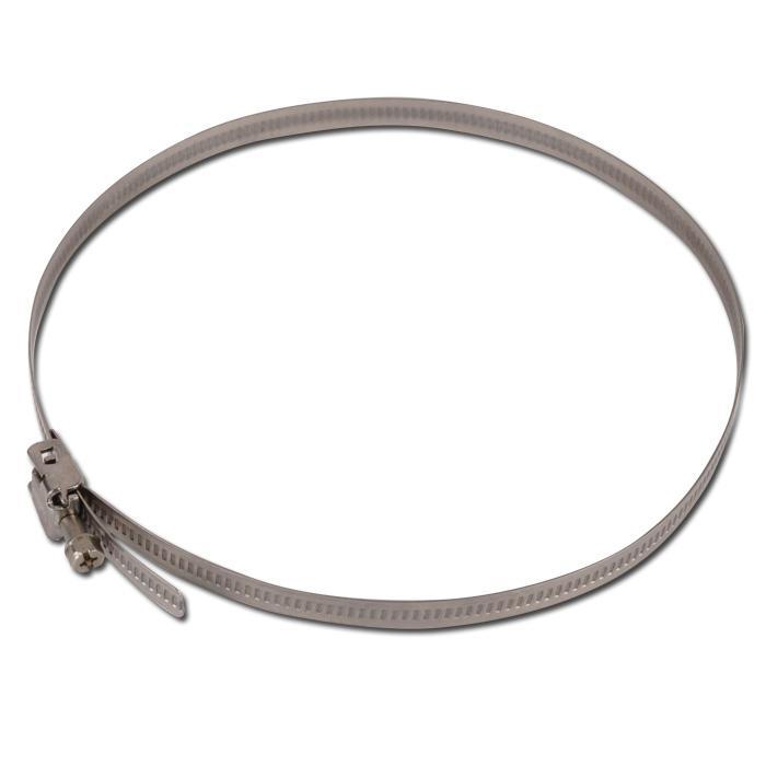 Collier à filet hélicoïdal - acier inoxydable - W4 -  largeur 9mm - Ø de 60 à 660 mm