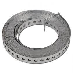 Bande perforée - acier galvanisé ou acier galvanisé plastifié - longueur 10m