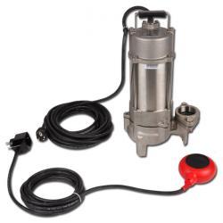 Pompa dell'acqua sporca Vortex Niro - acciaio inossidabile - max. 2,2 kW - max. 1120 l / min - interruttore a galleggiante a 230 V