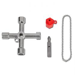 Cabinet Key - die-cast zinc - length 71 mm - multifunctional