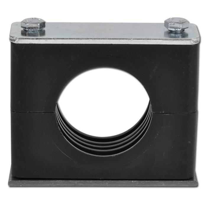 Rohrschelle - leichte Baureihe 0 bis 6 - Kunststoff mit Stahldeckplatte - Rohr-Ø 6 bis 50,8 mm - Preis per Stück