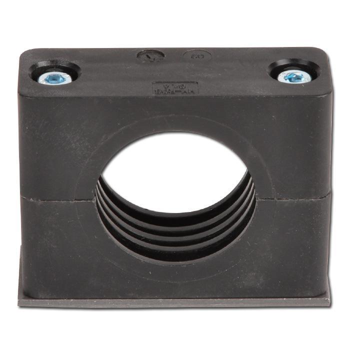 Rohrschelle - leichte Baureihe 0 bis 6 - Kunststoff - Rohr-Ø 6 bis 50,8 mm - mit Anschweißplatte - Preis per Stück