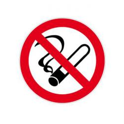 """Förbudsskylt """"rökning förbjuden"""" - Ø 5-40 cm"""