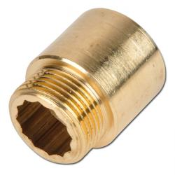 Brass Thread Extension With Inner Square
