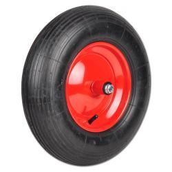 Schubkarrenrad mit Achse - Rillenprofil - Gleit-, Rollen- oder Kugellager - Rad-Ø 400 mm - Tragkraft 150 bis 250 kg